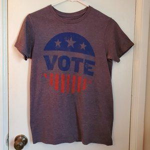 VOTE T-Shirt - Grey Mens/Unisex S